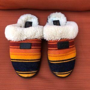 UGG Pendleton Slide Slippers Orange Yellow Blue